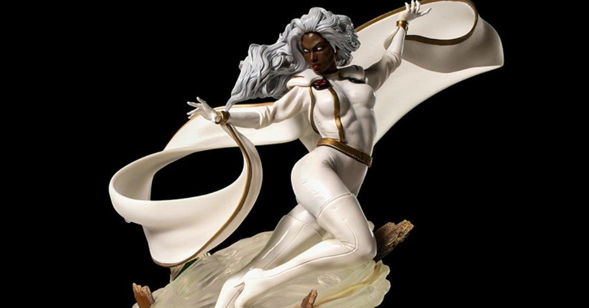 marvel storm iron studios statue