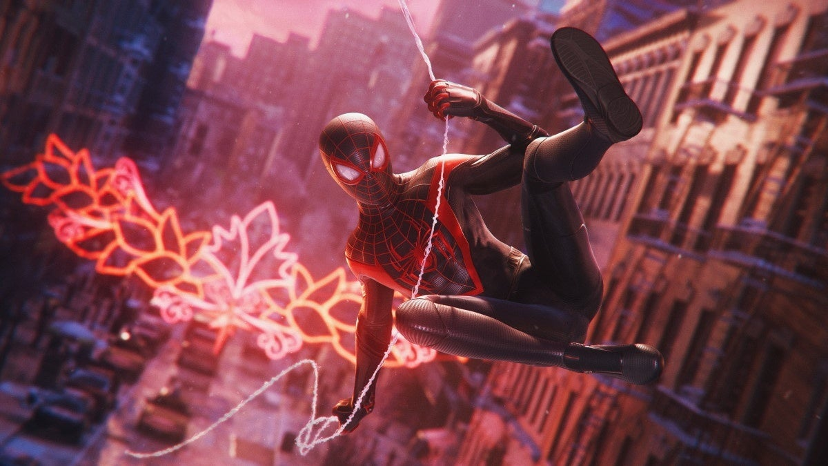 marvels spider man miles morales swinging new cropped hed