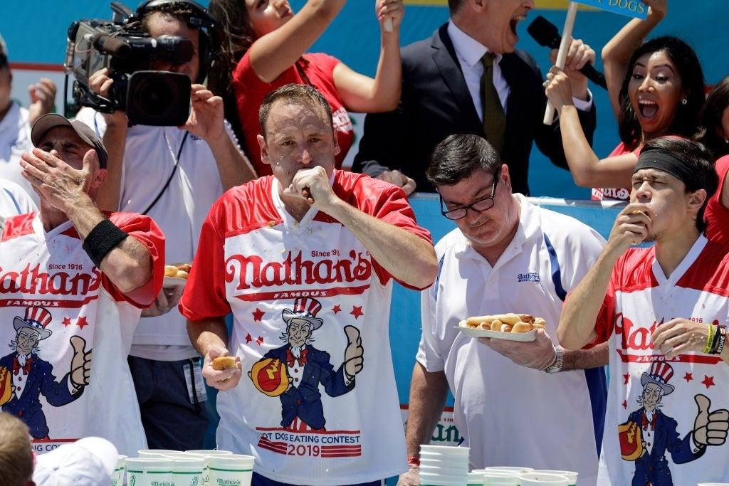 nathans hot dog contest joey chestnut