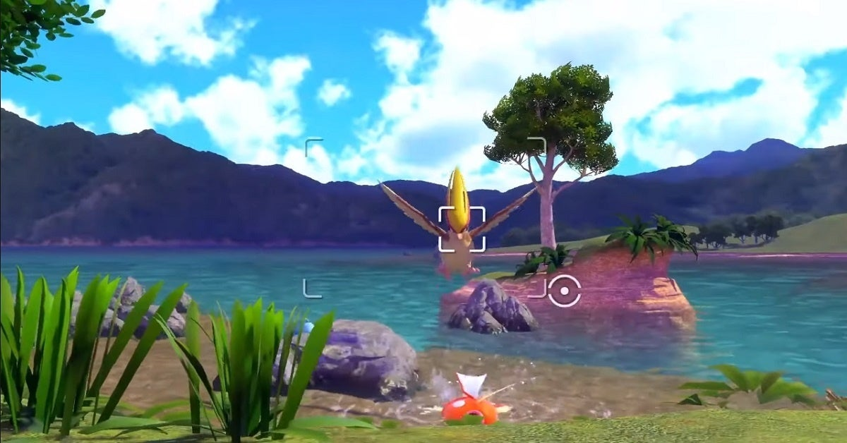 New Pokemon Snap Pidgeot Magikarp