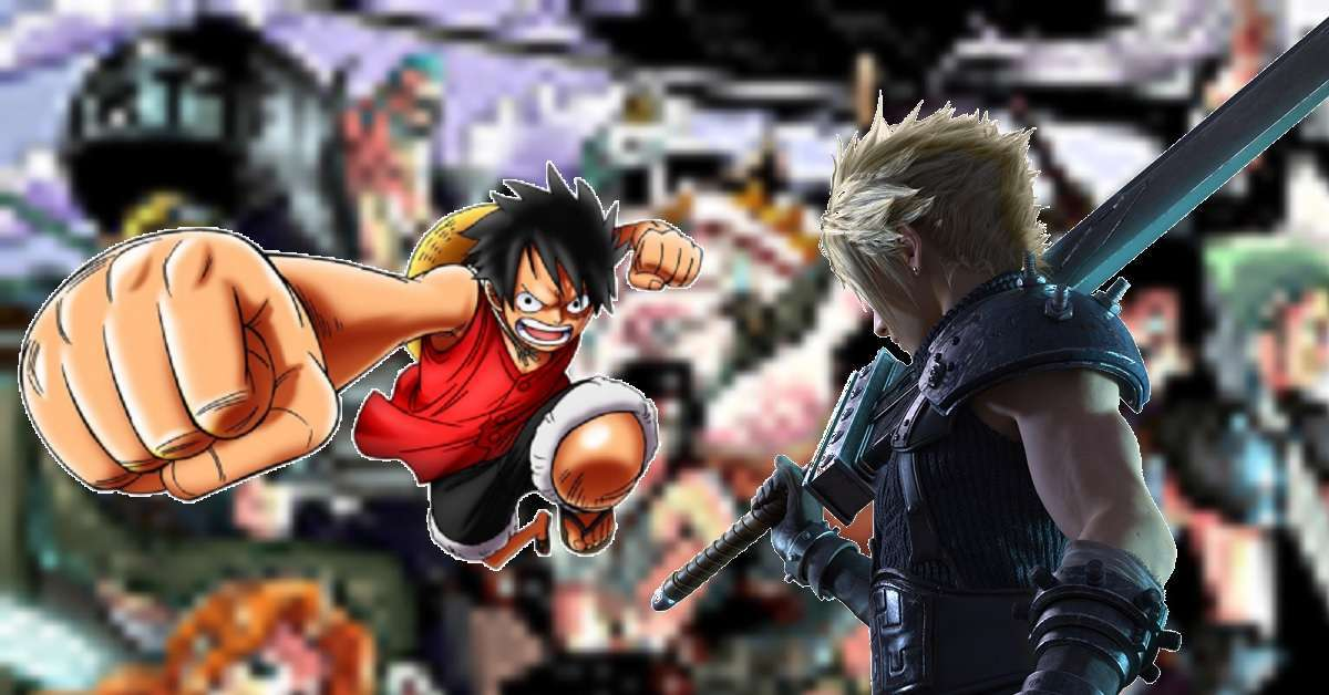 One Piece Final Fantasy VII Crossover Art
