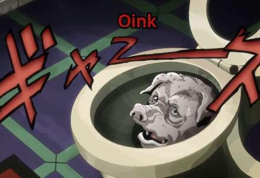 Pig In Toilet