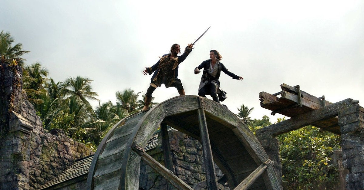 pirates of the caribbean wheel fight dead man's chest
