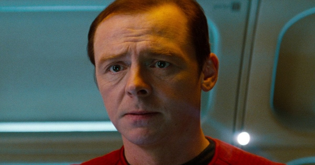 Star Trek Kelvin Timeline Scotty Simon Pegg Annoyed
