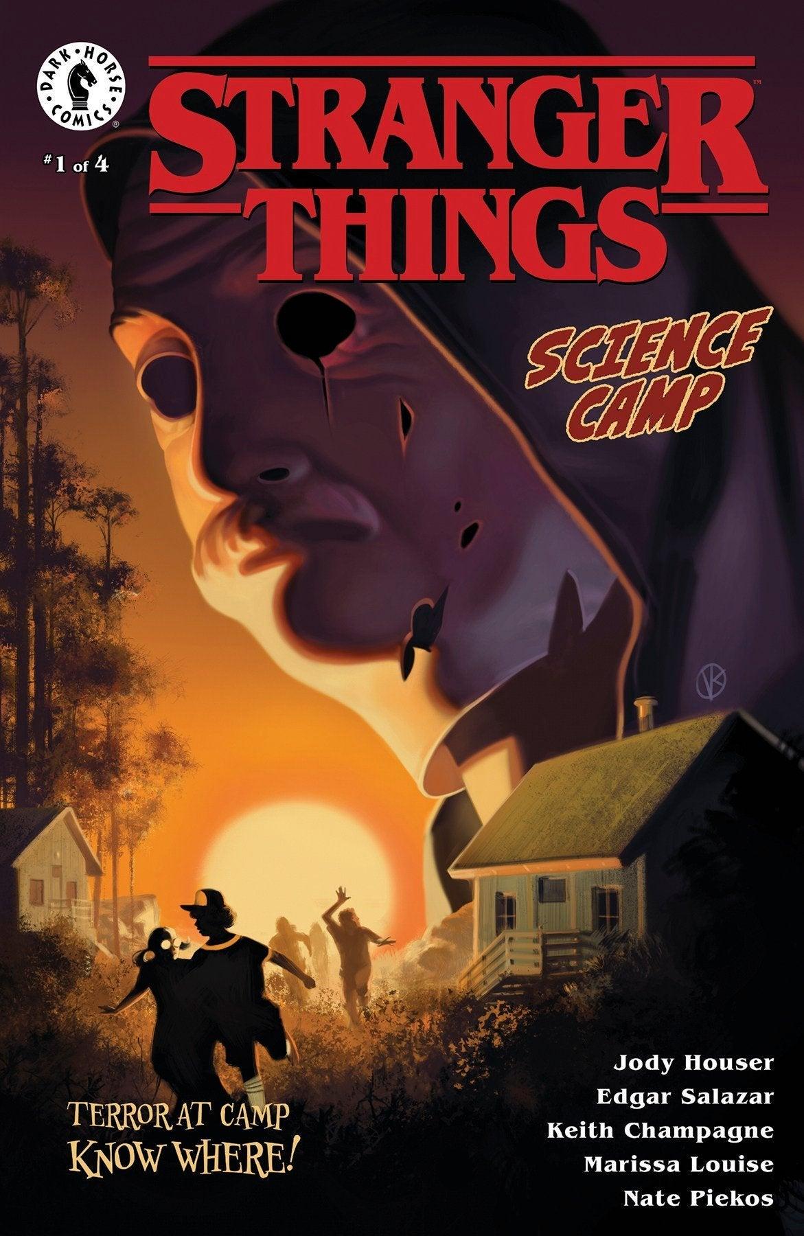 stranger things science camp comic book series