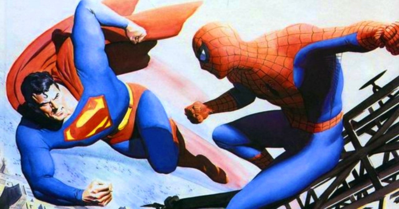 Artist Alex Ross Celebrates DC and Marvel's First Superhero Crossover With Superman vs Spider-Man Throwback