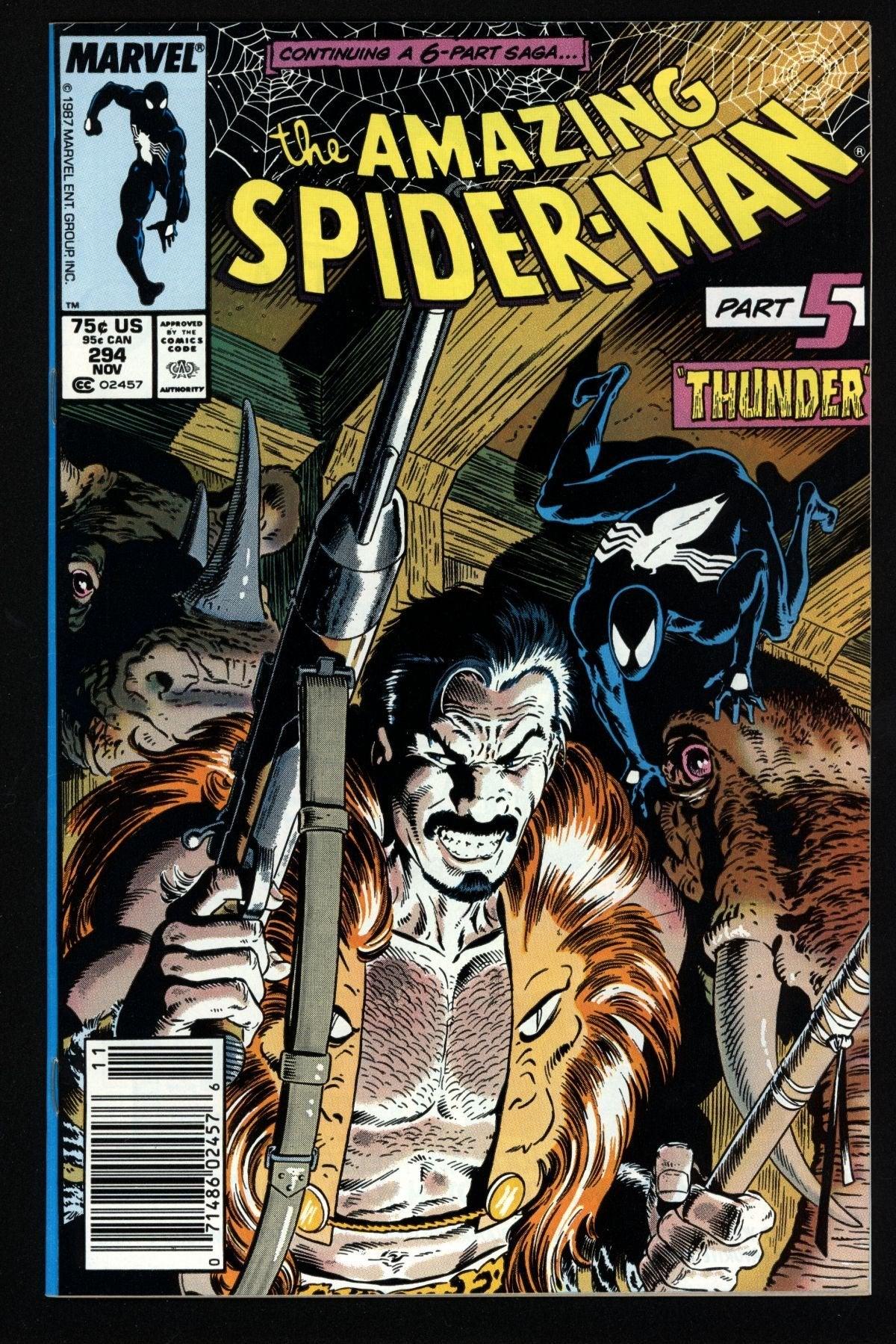 The Amazing SPider-Man 294 Kraven Hunter Tiger King Comic Reference