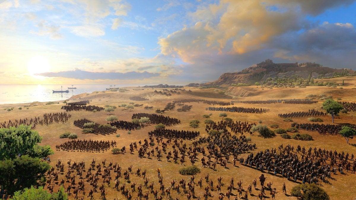total war troy battle