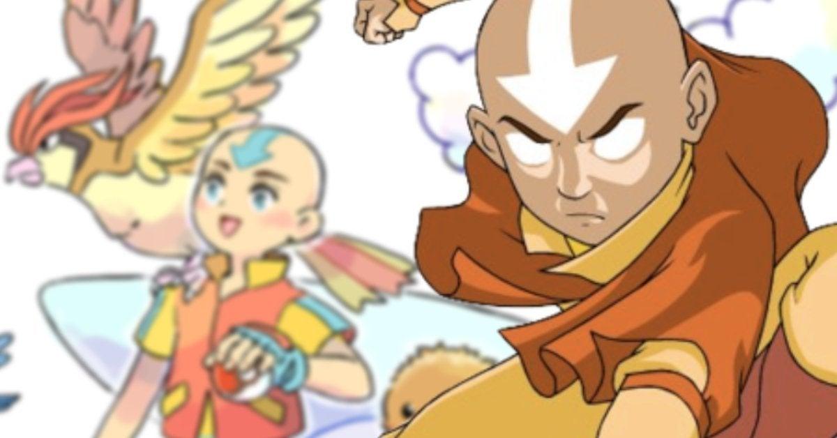 Avatar The Last Airbender Pokemon Crossover Fusion Art Anime