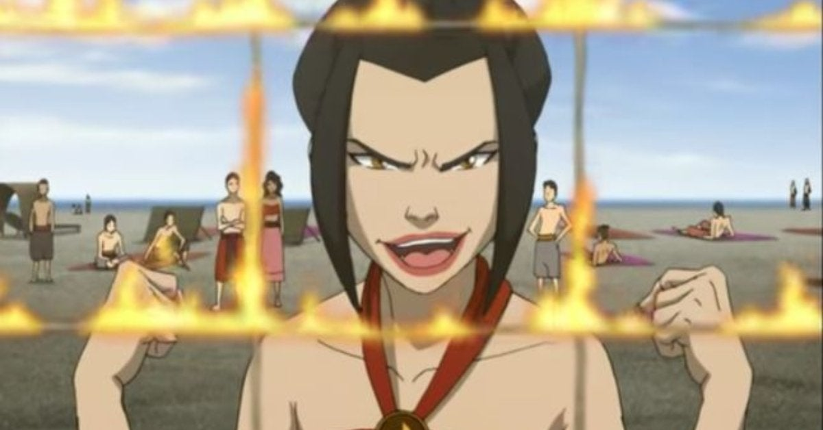 Avatar The Last Airbender The Beach Episode Azula