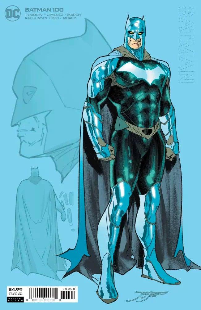 Batman 100 New Suit Costume Sketch DC Comics