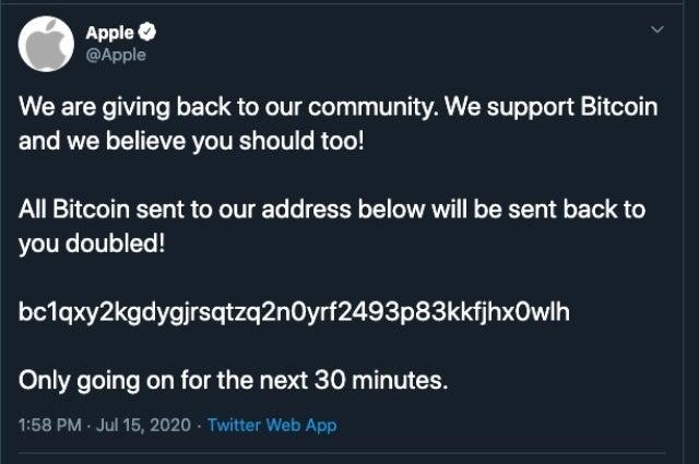 bitcoin scam twitter apple
