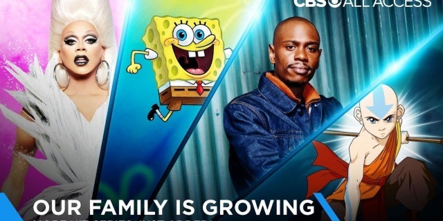 cbs all access new content spongebob chappelle