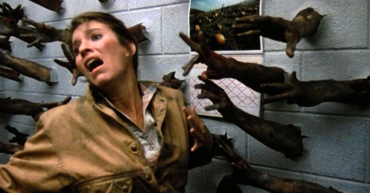 day of the dead movie arm scene lori cardille