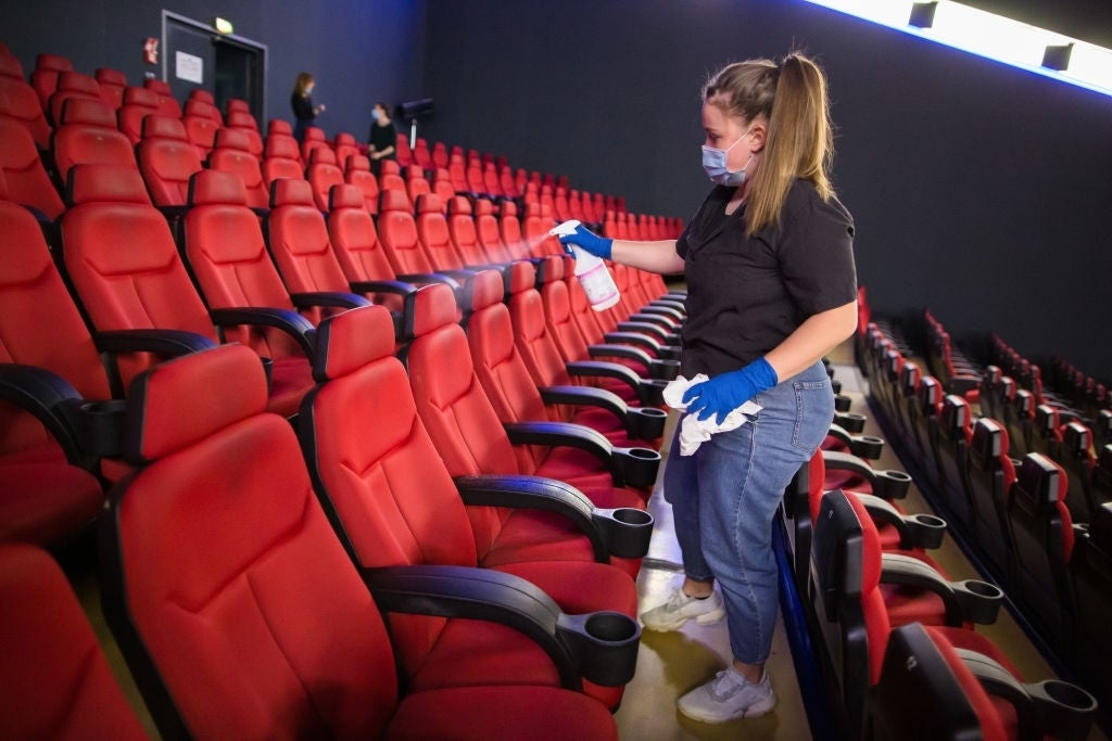 disinfecting movie theaters