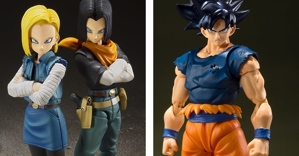 dragon ball figures sdcc androids goku