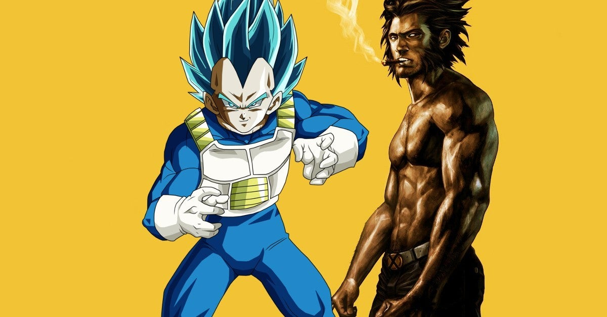 Dragon Ball Vegeta Marvel Wolverine Mashup Artwork