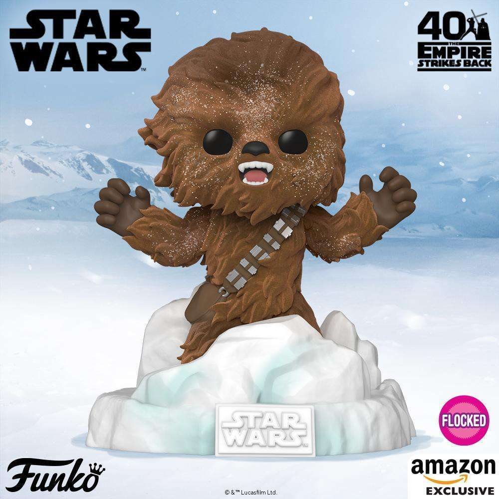 Funko's Flocked Chewbacca Pop Makes Three of Six in the Star Wars Battle at Echo Base Series