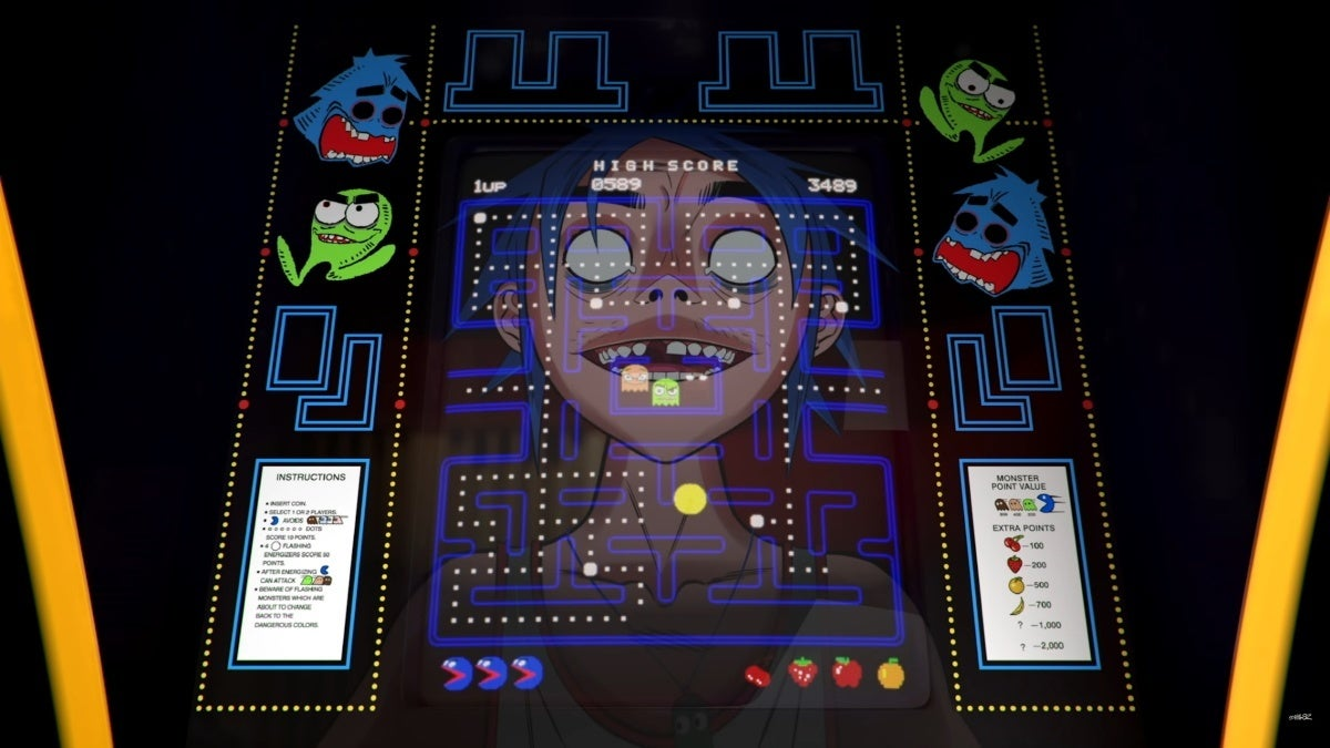 gorillaz pac man music video new cropped hed