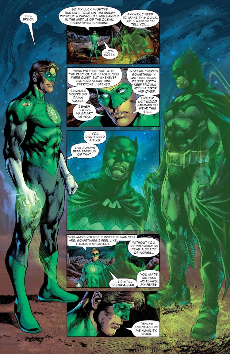 Green Lantern Reveals a Major Secret to Batman