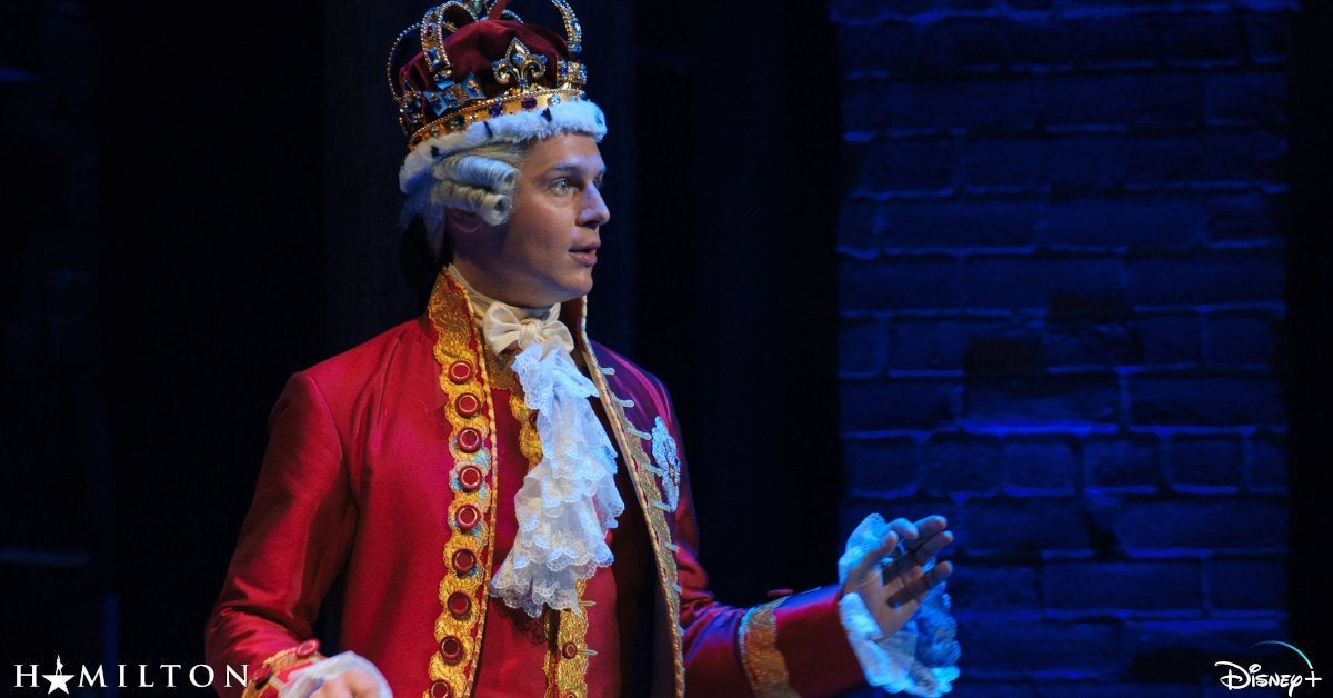 Hamilton Disney Plus Jonathan Groff King George Spit