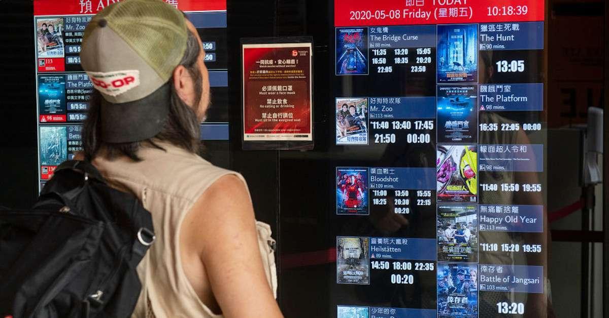 Hong Kong Theaters Closing Coronavirus Third Wave