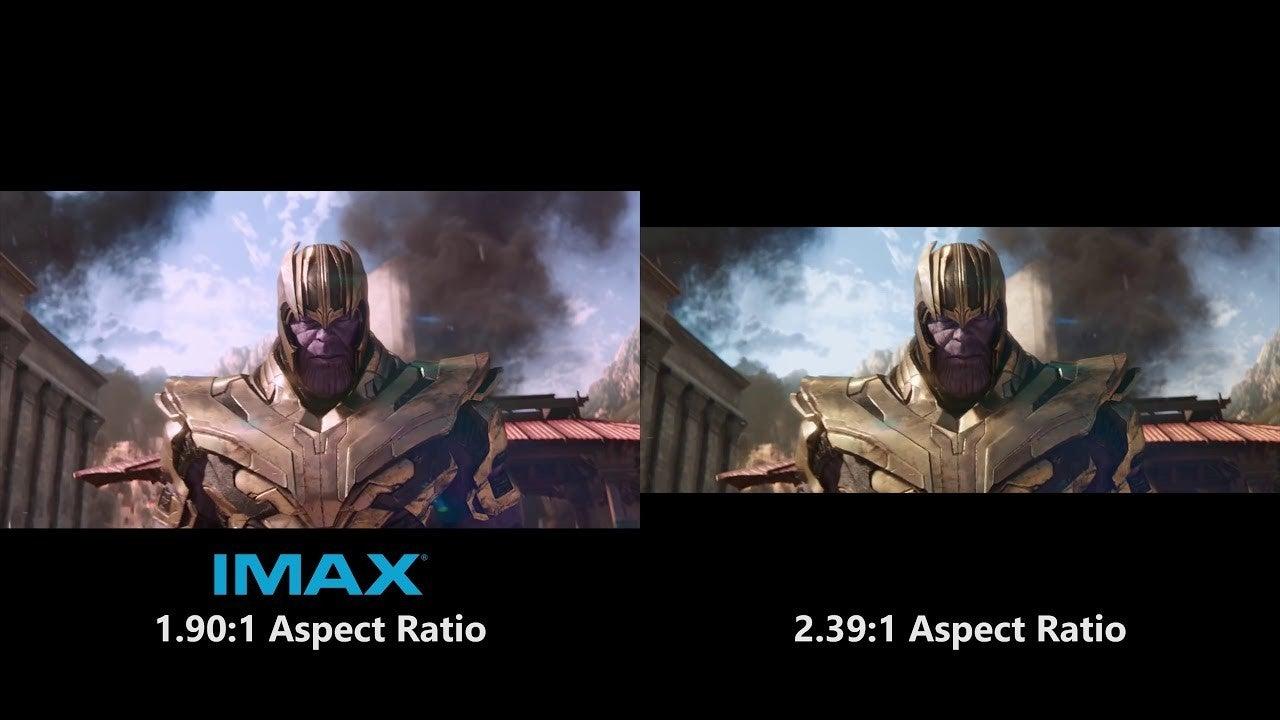 IMAX 1.90.1 Aspect Ratio Marvel Movies