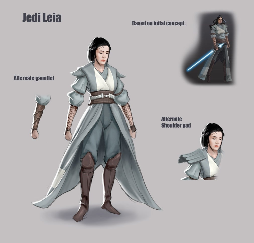 Star Wars Concept Art Shows Leia As A Jedi Before The Rise of Skywalker