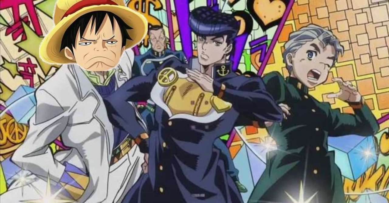 One Piece Introduces Luffy to JoJo's Bizarre Adventure in This Perfect Poster