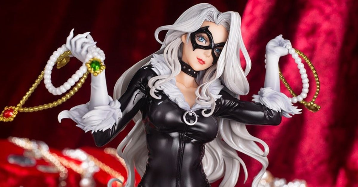 marvel black cat bishoujo kotobukiya