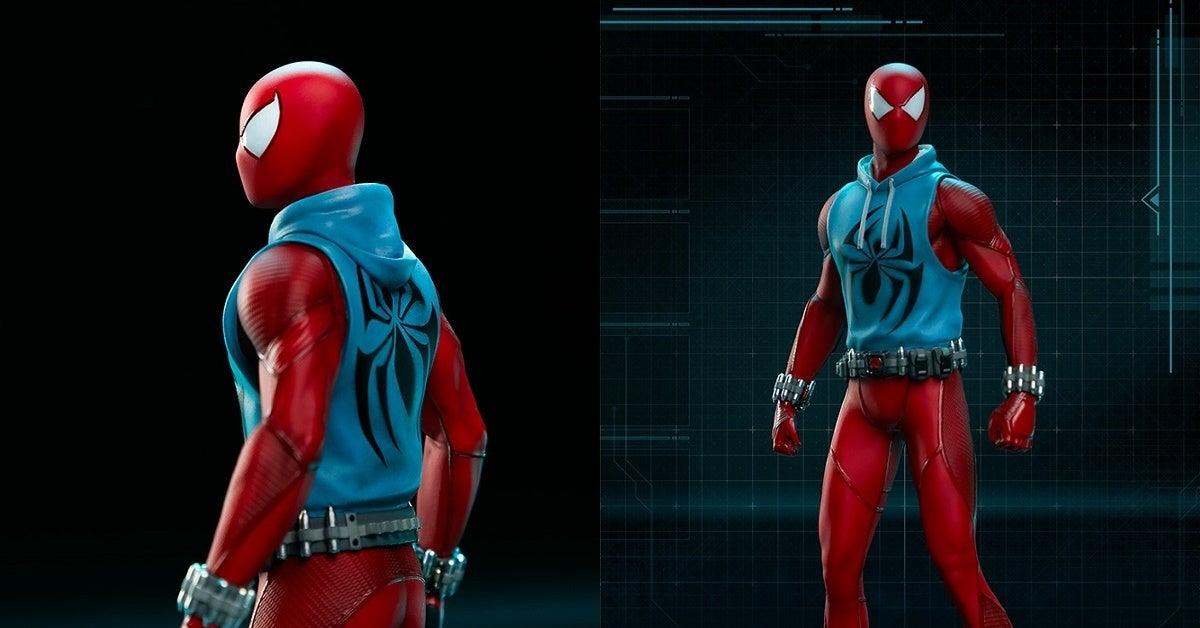 Marvel's Spider-Man Scarlet Spider Statue