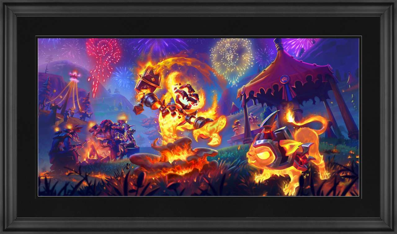 Midsummer Fire Festival World of Warcraft 5 x 10 Matted Art Print
