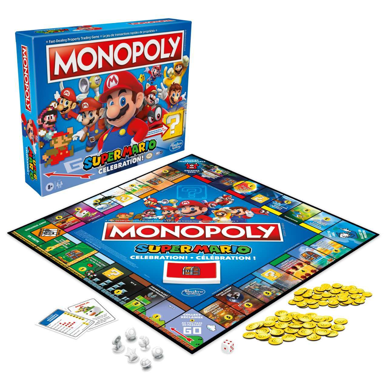 Monopoly Super Mario Celebration Edition_ Packaging and Game