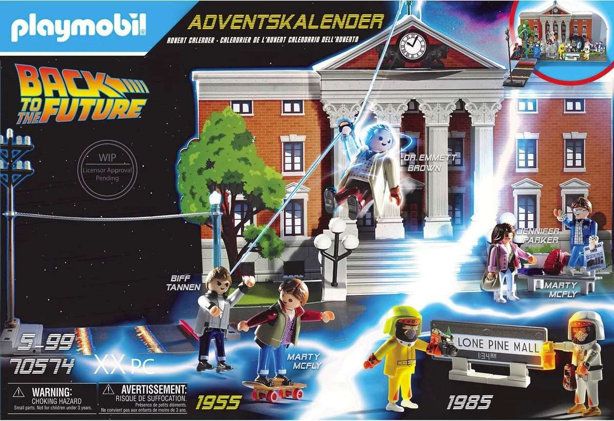 Playmobil's Back to the Future 2020 Advent Calendar Recreates Iconic Movie Moments