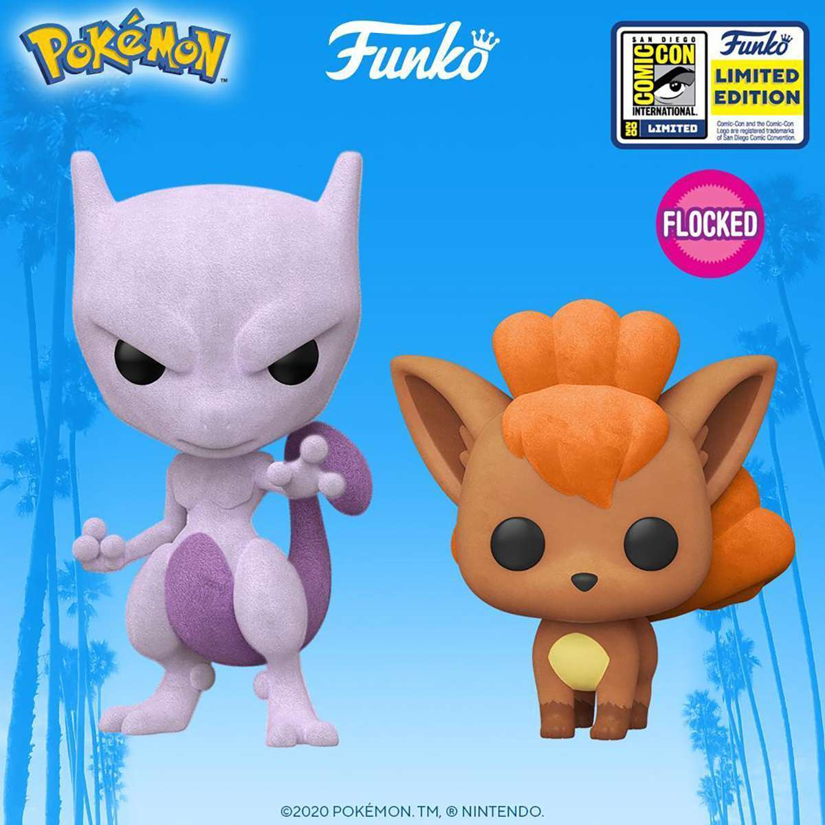 Pokemon-Flocked-Mewtwo-Vulpix-Funko-Pop