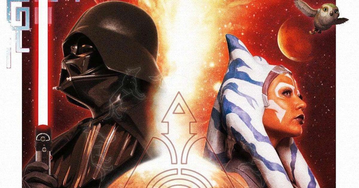 Star Wars Vader vs Ahsoka duel poster Comic-Con 2020