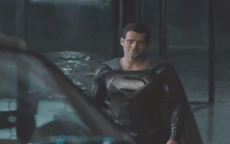 superman black suit justice league snyder cut
