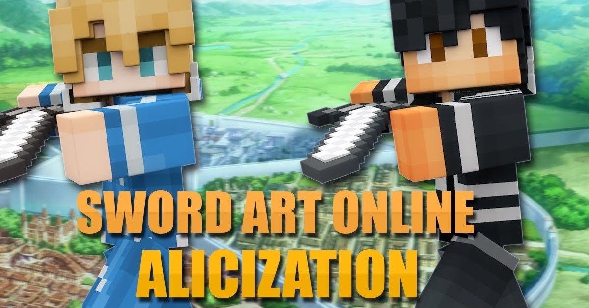 sword art online alicization minecraft