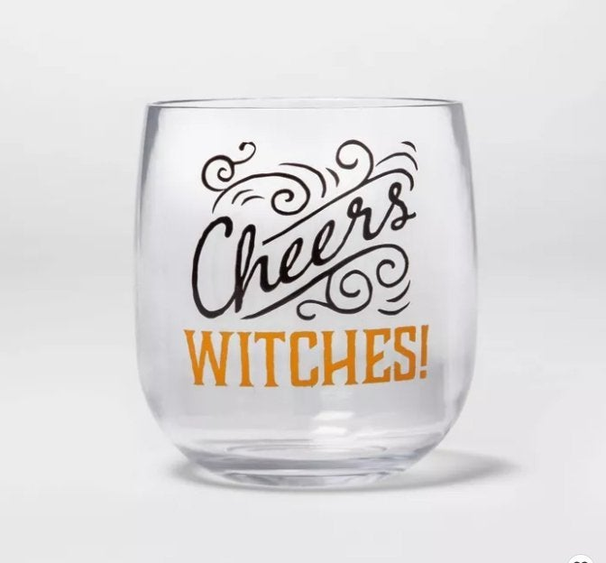 target cheers witches glass