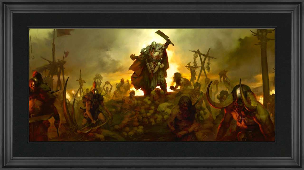 The Cannibals Diablo Framed 6 x 14 Art Print