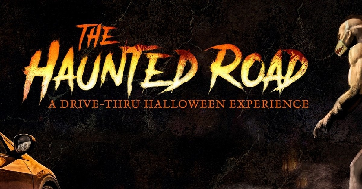 the haunted road halloween house