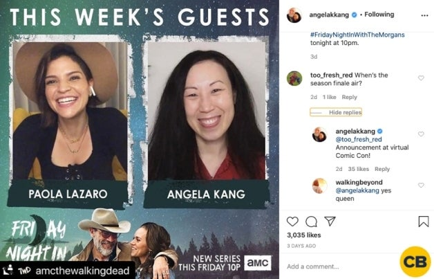 The Walking Dead Season 10 finale Angela Kang