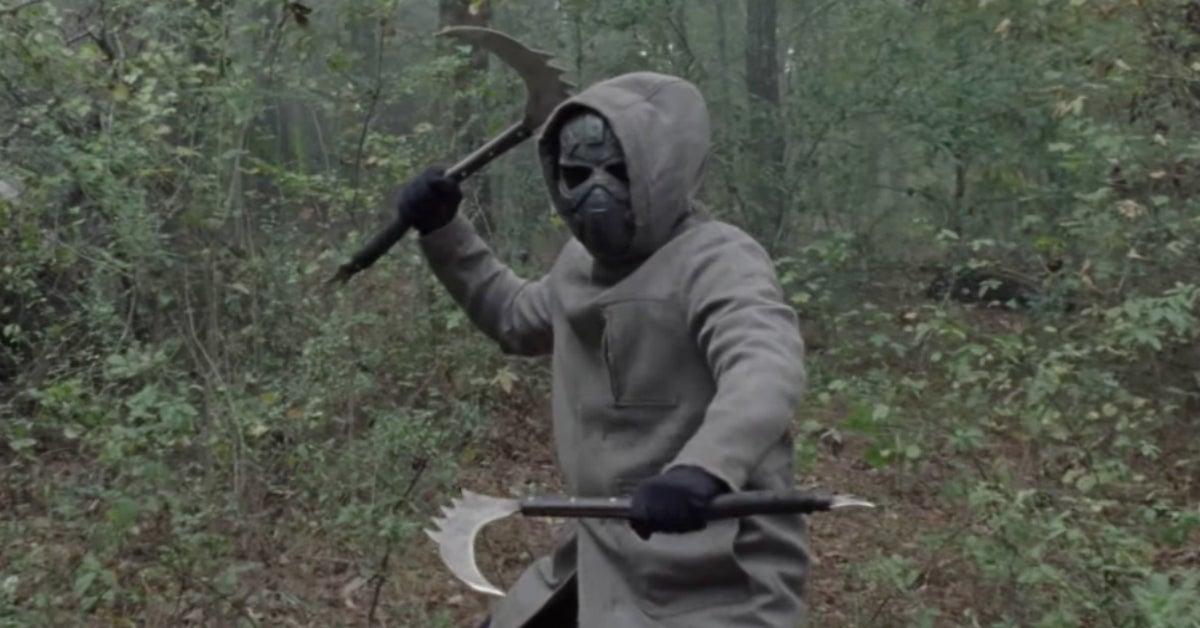 The Walking Dead Season 10 finale iron mask man