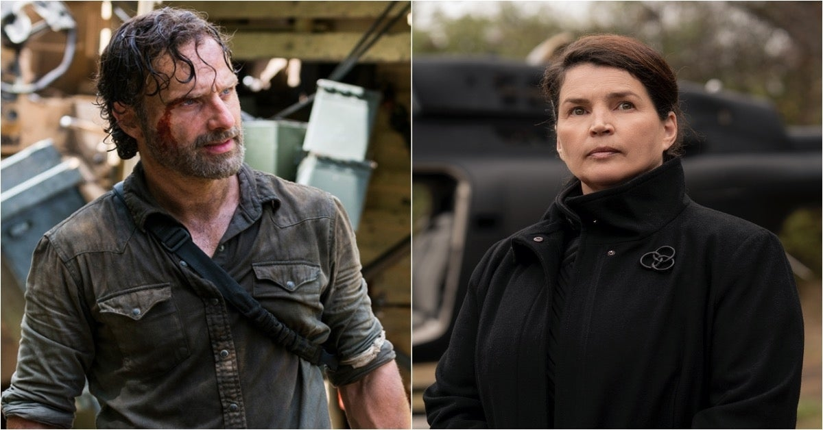 The Walking Dead World Beyond Rick Grimes Andrew Lincoln Elizabeth Julia Ormond