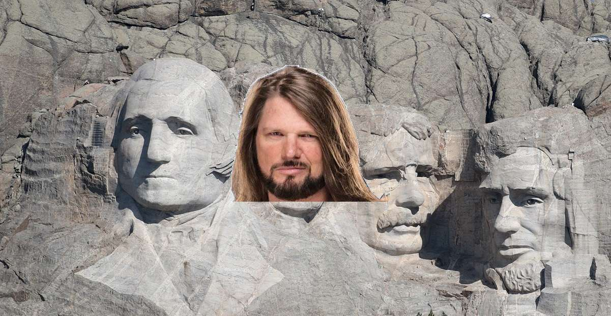 WWE AJ Styles Mount Rushmore