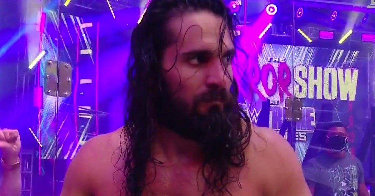 WWE-Extreme-Rules-Seth-Rollins-Pukes