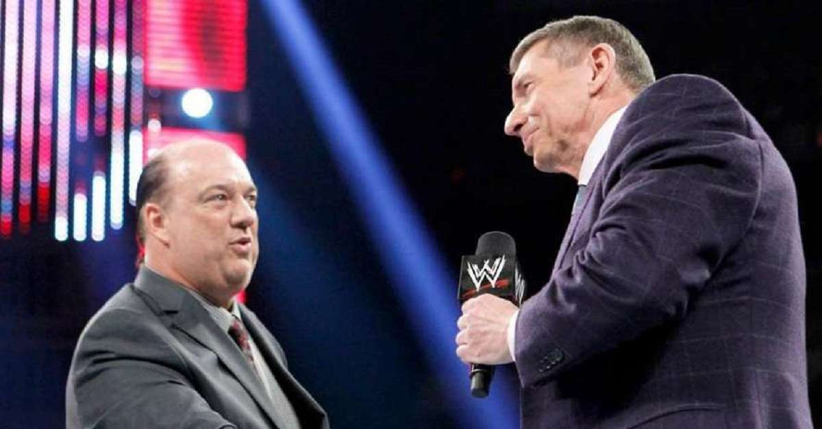 WWE Paul Heyman Vince McMahon