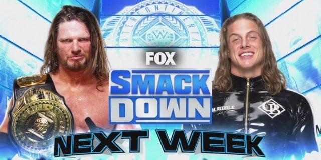 WWE-SmackDown-Matt-Riddle-Vs-AJ-Styles-Intercontinental-Championship