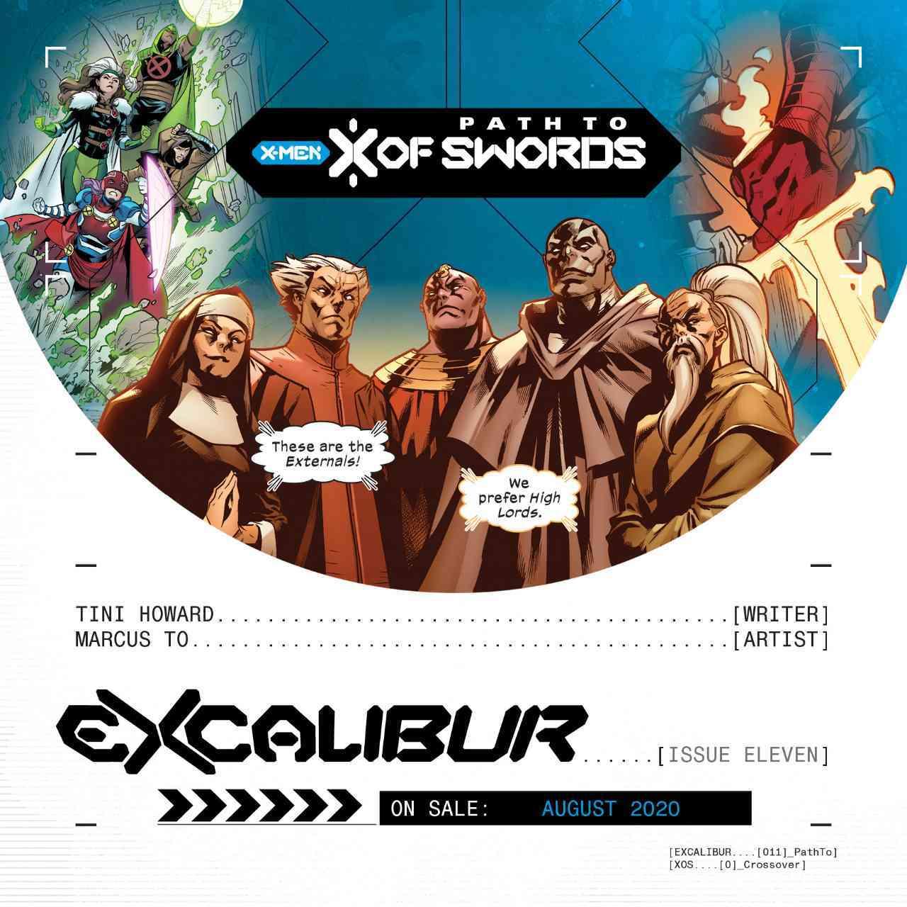 X-Men X of Swords Externals Excalibur