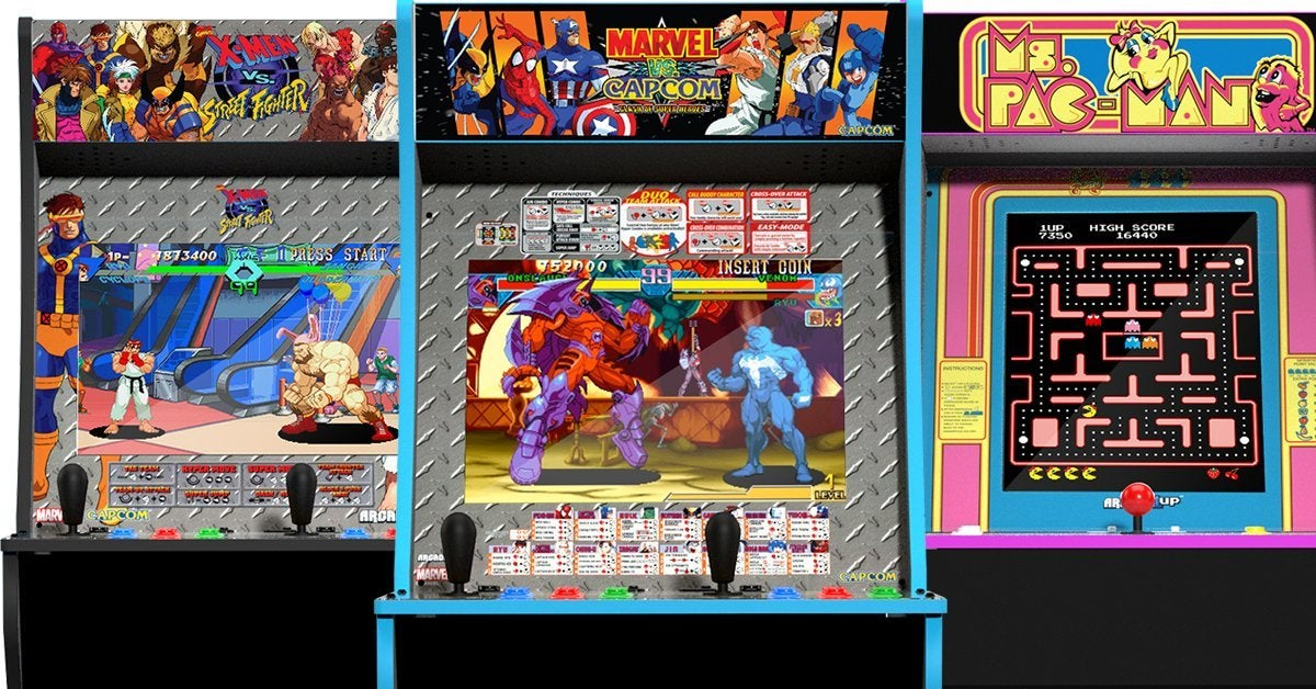 Arcade1Up X-Men vs Street Fighter, Marvel vs Capcom, and Ms. Pac-Man Cabinets Are up for Pre-Order